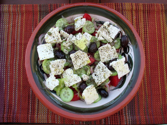 Ode to a Grecian Salad
